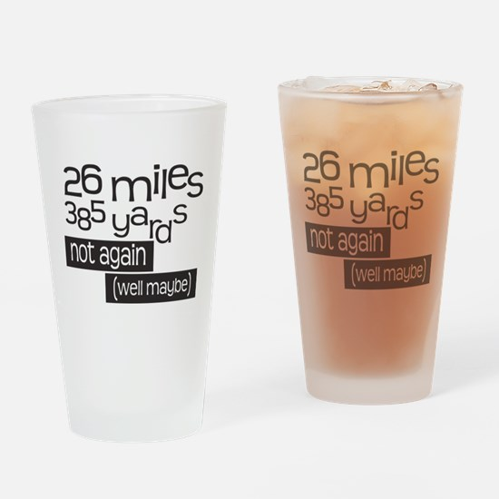 Funny 26.2 Marathon Drinking Glass