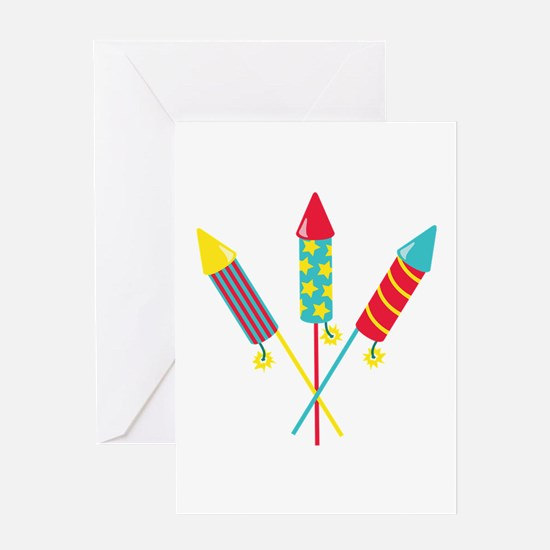 Rockets Fireworks Greeting Cards
