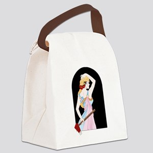 Red Lizzie Canvas Lunch Bag