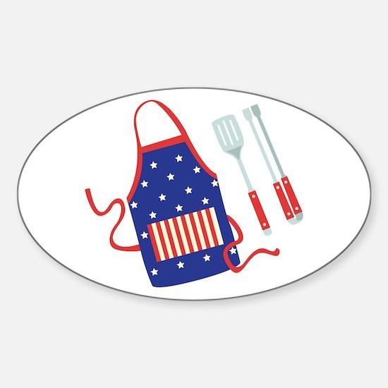 Patriotic Grill Accessories Decal