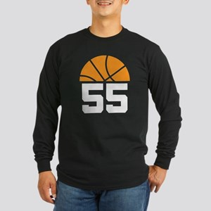 Basketball Number 55 Player Gift Long Sleeve Dark