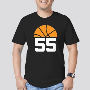 Basketball Number 55 Player Gift Men's Fitted T-Sh
