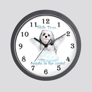 Shih Tzu Angel Wall Clock