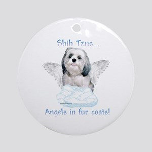 Shih Tzu Angel Ornament (Round)