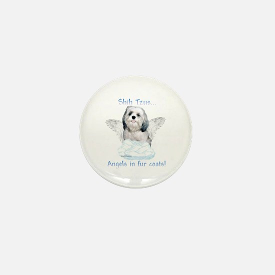 Shih Tzu Angel Mini Button