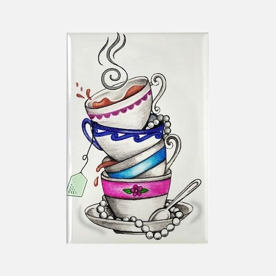 Tea for Four Rectangle Magnet