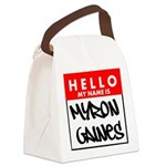 Hello My Name Is Myron Gaines Canvas Lunch Bag