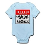 Hello My Name Is Myron Gaines Body Suit