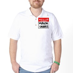 Hello My Name Is Myron Gaines Golf Shirt