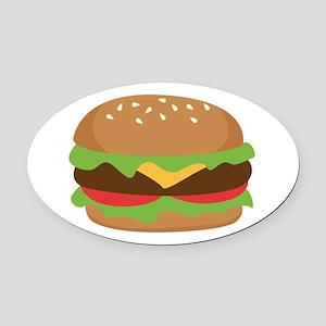 Hamburger Oval Car Magnet