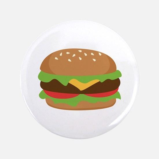 """Hamburger 3.5"""" Button (100 pack)"""
