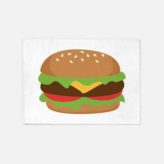 Hamburger 5'x7'Area Rug