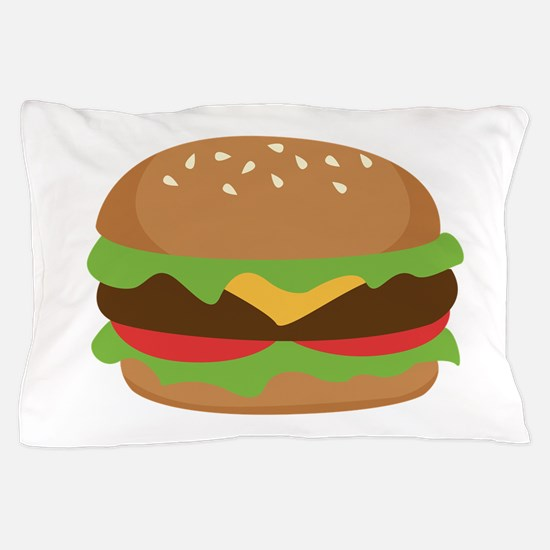 Hamburger Pillow Case