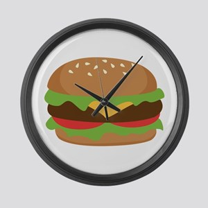 Hamburger Large Wall Clock