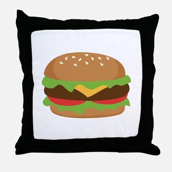 Hamburger Throw Pillow