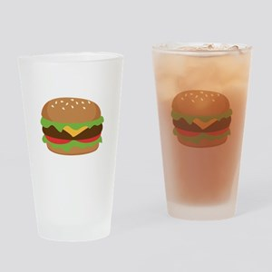 Hamburger Drinking Glass