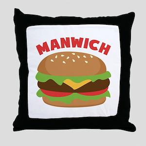 Manwich Throw Pillow