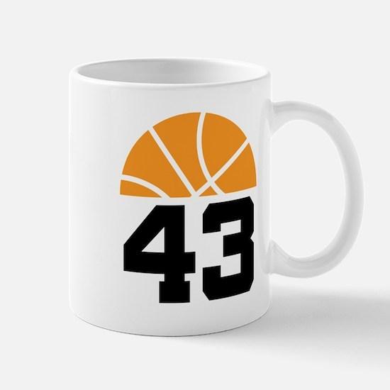 Basketball Number 43 Player Gift Mug