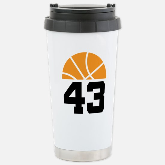 Basketball Number 43 Player Gift Stainless Steel T