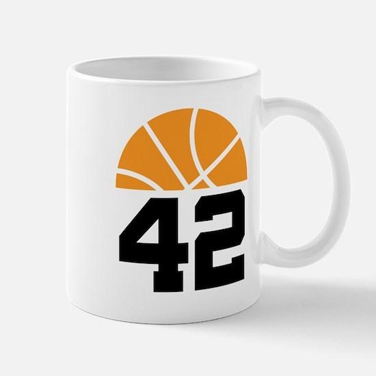 Basketball Number 42 Player Gift Mug