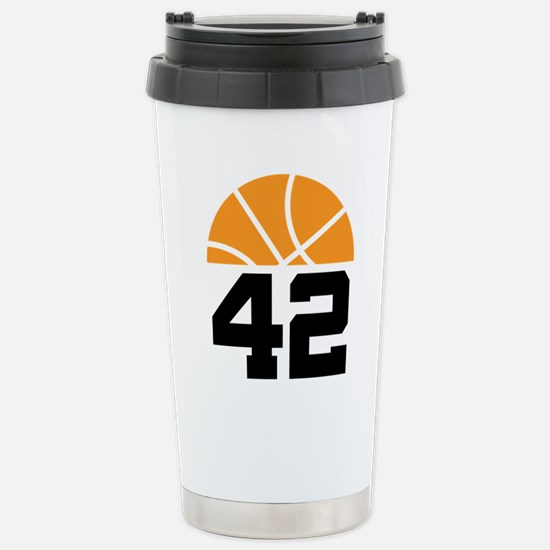 Basketball Number 42 Player Gift Stainless Steel T