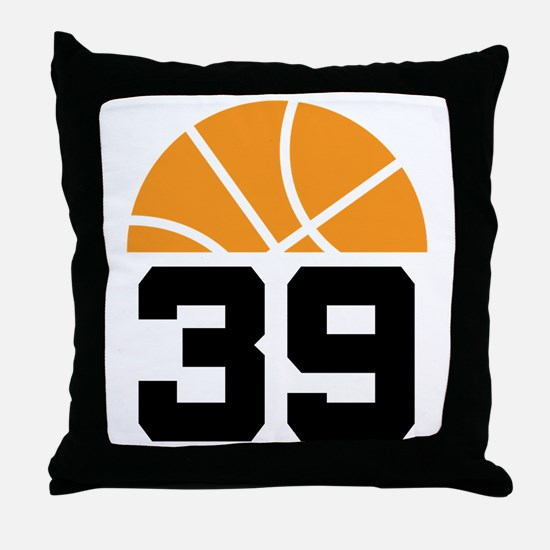 Basketball Number 39 Player Gift Throw Pillow