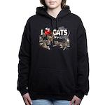 Hooded Sweatshirt I Love Cats Hooded Sweatshirt