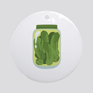 Pickle Jar Ornament (Round)