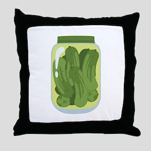 Pickle Jar Throw Pillow