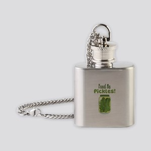 Feed Me Pickles! Flask Necklace