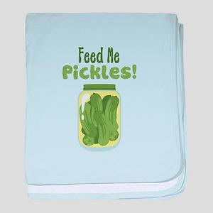 Feed Me Pickles! baby blanket