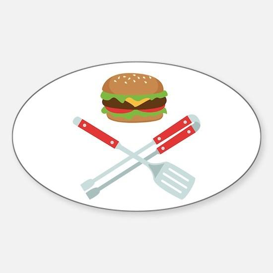 Burger Grill Tools Decal
