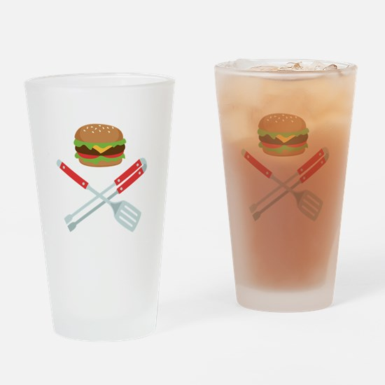 Burger Grill Tools Drinking Glass