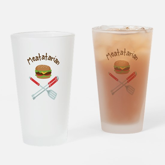 Meatatarian Drinking Glass
