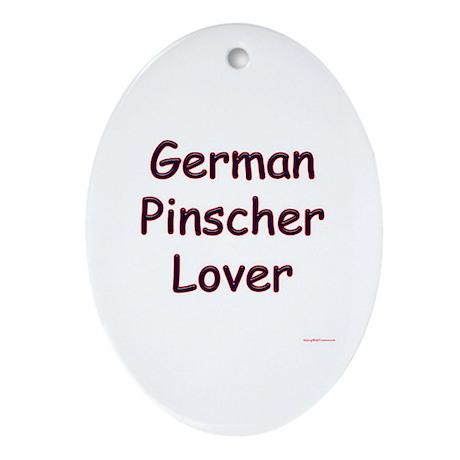 Pinscher Lover Oval Ornament
