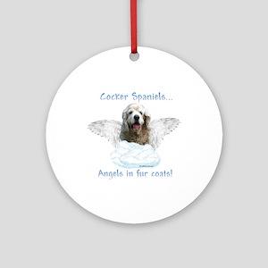 Cocker Angel Ornament (Round)
