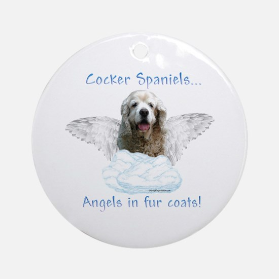 Cocker Angel Ornament (Round)