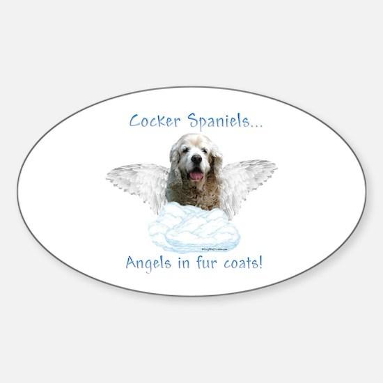 Cocker Angel Oval Decal