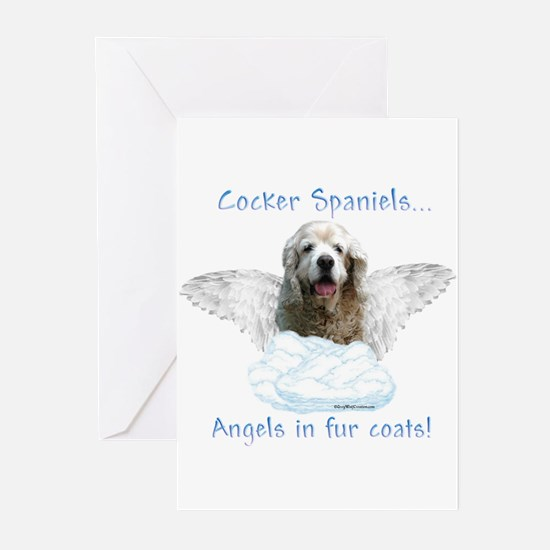 Cocker Angel Greeting Cards (Pk of 10)