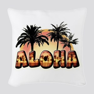 Woven Throw Pillow Aloha