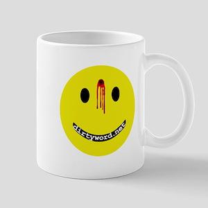 dirtyword.net dead smiley Mug