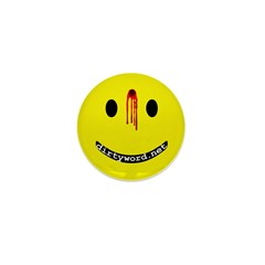 dirtyword.net dead smiley Mini Button (10 pack)