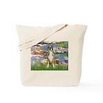 Lilies & Boxer Tote Bag