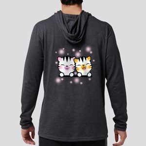 Happy Cats Mens Hooded Shirt