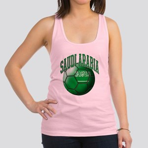 Flag of Saudi Arabia Soccer Bal Racerback Tank Top