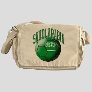 Flag of Saudi Arabia Soccer Ball Messenger Bag