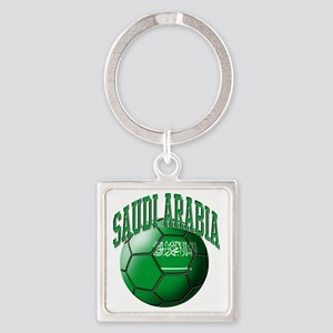 Flag of Saudi Arabia Soccer Ball Square Keychain