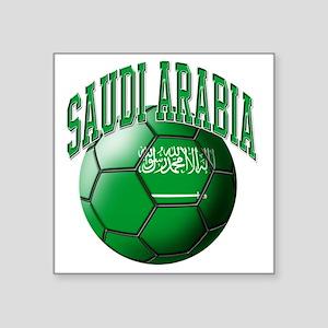 """Flag of Saudi Arabia Soccer Square Sticker 3"""" x 3"""""""