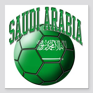 """Flag of Saudi Arabia Soc Square Car Magnet 3"""" x 3"""""""