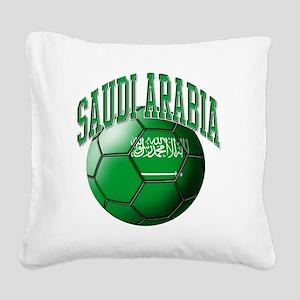 Flag of Saudi Arabia Soccer B Square Canvas Pillow